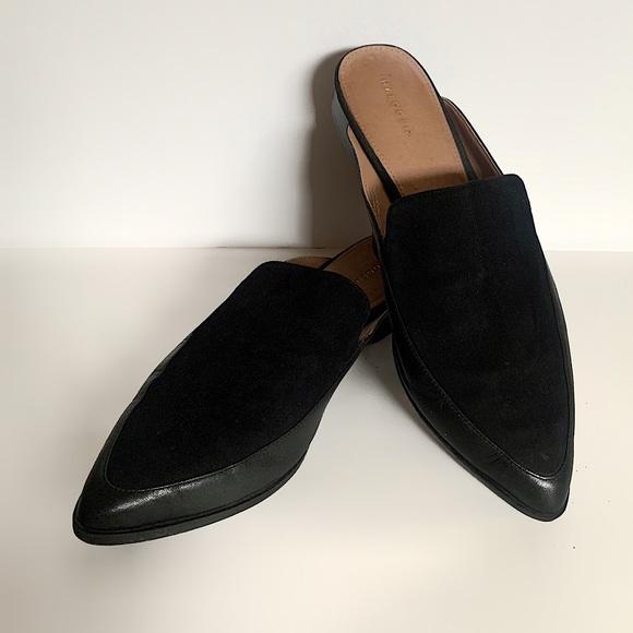 Halogen Corbin Leather & Suede Mule Loafer